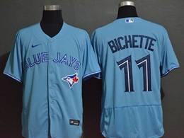 Mens Mlb Toronto Blue Jays #11 Kevin Pillar Light Blue Flex Base Nike Jersey