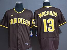 Mens Mlb San Diego Padres #13 Manny Machado Brown Flex Base Nike Jersey
