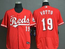 Mens Mlb Cincinnati Reds #19 Joey Votto Red Flex Base Nike Jersey