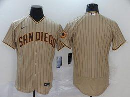 Mens Mlb San Diego Padres Blank Brown Stripe Flex Base Nike Jersey