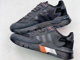 Mens And Women Adidas Nite Jogger 2020 Boost Running Shoes Black Color