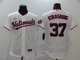 Mens Mlb Washington Nationals #37 Stephen Strasburg White Flex Base Nike Jersey