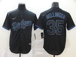 Mens Mlb Los Angeles Dodgers #35 Cody Bellinger Black Shadow Cool Base Nike Jersey