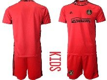 Youth 20-21 Soccer Club Toronto Fc ( Custom Made ) Red Goalkeeper Short Sleeve Suit Jersey
