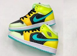 Women Air Jordan 1 Mid Basketball Shoes One Color