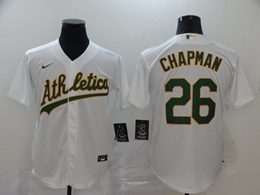 Mens Mlb Oakland Athletics #26 Matt Chapman White Cool Base Nike Jersey