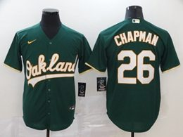 Mens Mlb Oakland Athletics #26 Matt Chapman Green Cool Base Nike Jersey