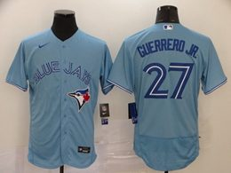 Mens Mlb Toronto Blue Jays #27 Guerrero Jr. Light Blue Flex Base Nike Jersey