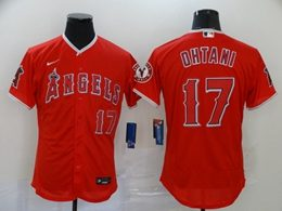 Mens Mlb Los Angeles Angels #17 Shohei Ohtani Red Flex Base Nike Jersey