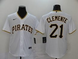 Mens Mlb Pittsburgh Pirates #21 Roberto Clemente White Cool Base Nike Jersey