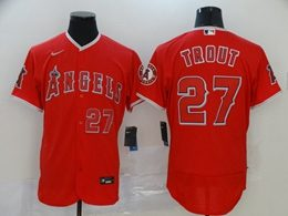 Mens Mlb Los Angeles Angels #27 Mike Trout Red Flex Base Nike Jersey