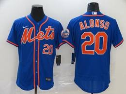 Mens Mlb New York Mets #20 Pete Alonso Blue Flex Base Nike Jersey