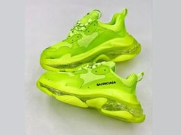 Mens And Women Balenciaga Triple S Running Shoes One Color