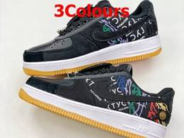 Mens And Women Travis Scott And Nike Air Force 1 Low Running Shoes 3 Colors