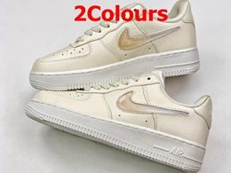Women Nike Air Force 1 Swoosh Running Shoes 2 Colors