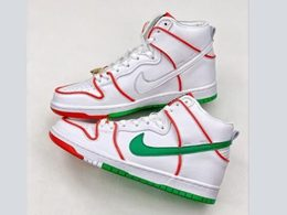 Mens And Women Paul Rodriguez And Nike Sb Dunk High Running Shoes One Color