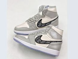 Mens And Women Nike Air Jordan 1 High Running Shoes One Color