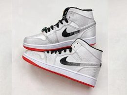Mens And Women Edison Chen And Nike Air Jordan 1 Mid Fearless High Running Shoes One Color