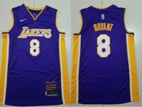 Mens Nba Los Angeles Lakers #8 Kobe Bryant Pruple Retirement Commemorative Nike Jersey