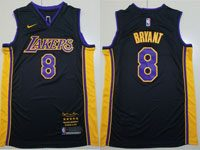 Mens Nba Los Angeles Lakers #8 Kobe Bryant Black Retirement Commemorative Nike Jersey