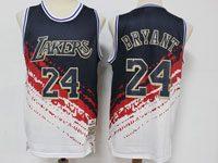 Mens Nba Los Angeles Lakers #24 Kobe Bryant Black Mitchell&ness Hardwood Classics Independence Day Swingman Jersey