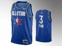 Mens 2020 All Star Nba Houston Rockets #3 Chris Pau Blue Swingman Jordan Brand Jersey