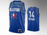 Mens 2020 All Star Nba Los Angeles Lakers #14 Brandon Ingram Blue Swingman Jordan Brand Jersey