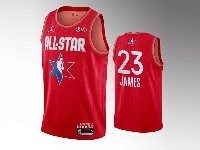 Mens 2020 All Star Nba Los Angeles Lakers #23 Lebron James Red Swingman Jordan Brand Jersey