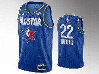 Mens 2020 All Star Nba Miami Heat #22 Jimmy Butler Blue Swingman Jordan Brand Jersey