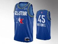 Mens 2020 All Star Nba Utah Jazz #45 Donovan Mitchell Blue Swingman Jordan Brand Jersey