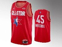 Mens 2020 All Star Nba Utah Jazz #45 Donovan Mitchell Red Swingman Jordan Brand Jersey