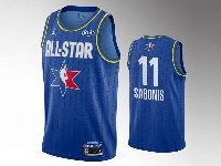 Mens 2020 All Star Nba Indiana Pacers #11 Domantas Sabonis Blue Swingman Jordan Brand Jersey