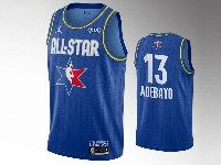 Mens 2020 All Star Nba Miami Heat #13 Bam Adebayo Blue Swingman Jordan Brand Jersey