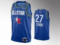 Mens 2020 All Star Nba Utah Jazz #27 Rudy Gobert Blue Swingman Jordan Brand Jersey