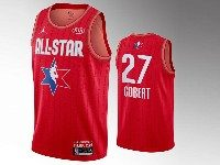 Mens 2020 All Star Nba Utah Jazz #27 Rudy Gobert Red Swingman Jordan Brand Jersey
