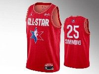 Mens 2020 All Star Nba Philadelphia 76ers #25 Ben Simmons Red Swingman Jordan Brand Jersey