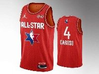 Mens 2020 All Star Nba Los Angeles Lakers #4 Alex Caruso Red Swingman Jordan Brand Jersey