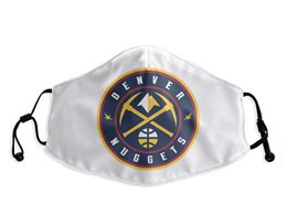 Mens Nba Denver Nuggets White Face Mask Protection