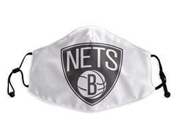 Mens Nba Brooklyn Nets White Face Mask Protection