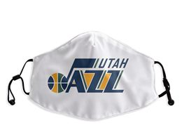 Mens Nba Utah Jazz Blue White Face Mask Protection