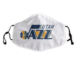 Mens Nba Utah Jazz Blue White Face Mask Protection