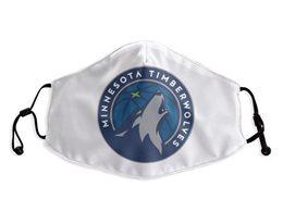 Mens Nba Minnesota Timberwolves White Face Mask Protection