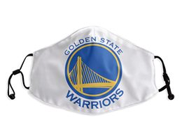 Mens Nba Golden State Warriors White Face Mask Protection
