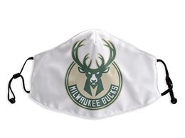 Mens Nba Milwaukee Bucks White Face Mask Protection