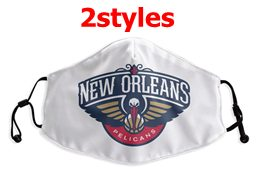 Mens Nba New Orleans Pelicans White Face Mask Protection 2 Styles