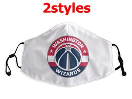 Mens Nba Washington Wizards White Face Mask Protection 2 Styles