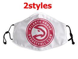 Mens Nba Atlanta Hawks White Face Mask Protection 2 Styles