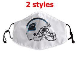 Mens Nfl Carolina Panthers White Face Mask Protection 2 Styles