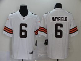 Mens Nfl Cleveland Browns #6 Baker Mayfield 2020 White Vapor Untouchable Limited Jersey