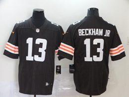Mens Nfl Cleveland Browns #13 Odell Beckham Jr 2020 Brown Vapor Untouchable Limited Jersey